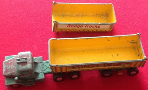 Matchbox Kingsize K-16 Dodge Tractor and part of the rear Drag Trailer